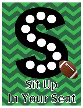 Slant Chart Poster - Football Theme - Classroom Participation Strategy