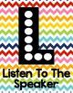 Slant Chart Poster - Rainbow Chevron -Classroom Participation Strategy