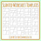 Slanted Worksheet Template Blank for Homework or Morning Work Clip Art Set