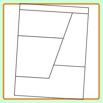 Slanted Worksheet Template Blank for Homework or Morning Work Clip Art Set