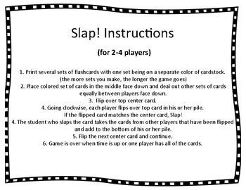 Slap! 2nd grade HFW Game aligned to National Geographic REACH for READING