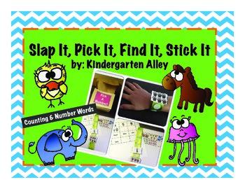 Slap It, Pick It, Find It, Stick It: Numbers & Number Words