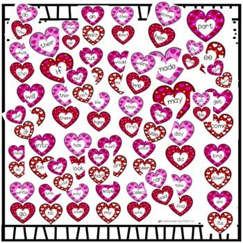 Slap It Valentines Sight Word Game