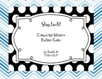 SlapJack! Comparing Integers Game- 6.NS.7b