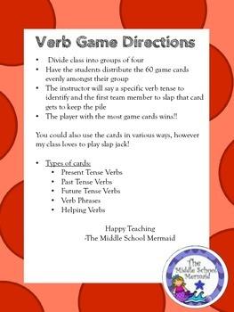 Slap Jack- Verb Game