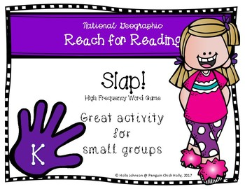 Slap! Kinder HFW Game aligned to National Geographic REACH for READING