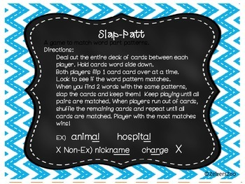 Slap-Patt Word Pattern Game