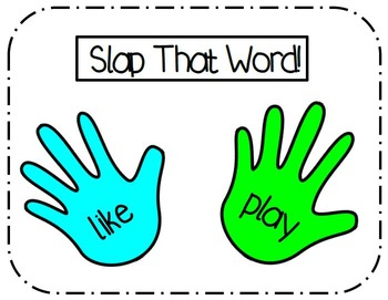 Slap That Word- Sight Word Recognition Center