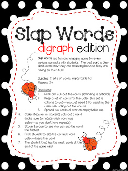 Slap Words (Digraph Edition)