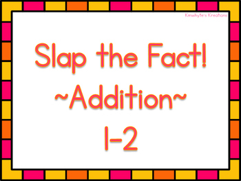 Slap the Fact - Addition Facts 1 and 2