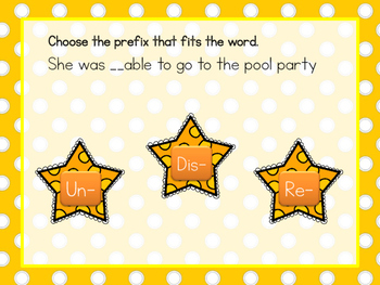 Slap the Prefix/Suffix Review Game