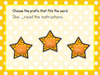 Slap the Prefix/Suffix Review Game