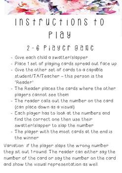 Slap the number! Number Recognition Game