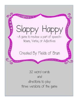 "Parts of Speech Game ""Slappy Happy"""