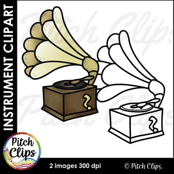 Phonograph Record Player Clipart (Clip art) - Commercial Use