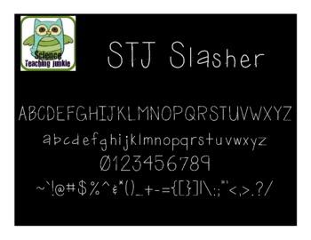 Slasher - Science Teaching Junkie Font Series