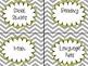 Slate Gray Chevron and Yellow Classroom Decor Kit