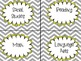 Slate Gray Chevron and Yellow Classroom Decor Kit