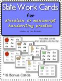 Slate Work Handwriting Cards for d'nealian or manuscript