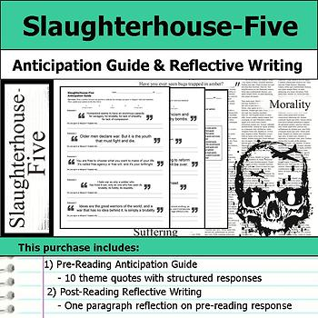 Slaughterhouse-Five - Anticipation Guide & Post Reading Reflection