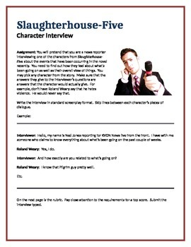 Slaughterhouse-Five - Character Interview writing assignment
