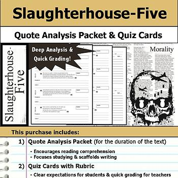 Slaughterhouse-Five - Quote Analysis & Reading Quizzes