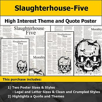 Slaughterhouse-Five - Visual Theme and Quote Poster for Bulletin Boards