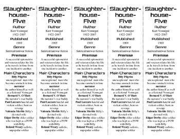 "Slaughterhouse-Five edition of Bookmarks Plus—Great ""Gift/Handy Reading Aid!"