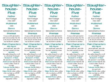 Slaughterhouse-Five edition of Bookmarks Plus—Fun Freebie/Handy Reading Aid!
