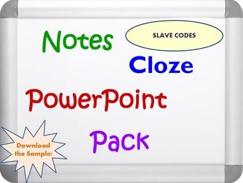 Slave Codes Pack (PPT, DOC, PDF)