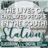 Slave Life in the South Before the Civil War Stations Activity Gallery Walk