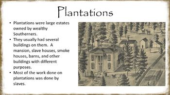 Slave Life on a Plantation PowerPoint and Reading Passage w/ Questions