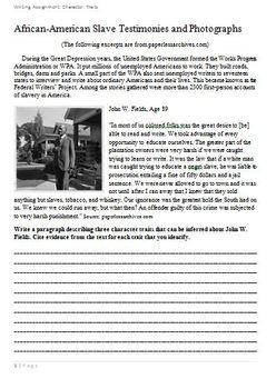 Slave Testimonies-Citing evidence