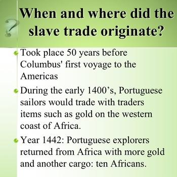 Slave Trade Introduction
