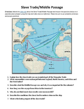 Slave Trade/Middle Passage Video with Notes Worksheet
