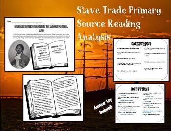 Slave Trade Primary Source Analysis