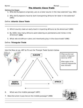 Slave Trade and Columbian Exchange