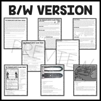 Slave Trade- article, questions, DBQs, U.S. History, European History