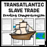 Slave Trade Reading Comprehension Worksheet and Document Based Questions DBQ