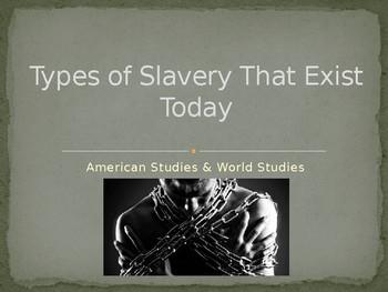 Slavery Around the World Today PowerPoint