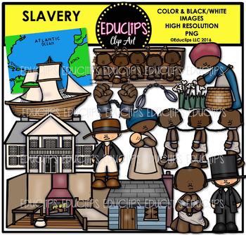Slavery Clip Art Bundle  {Educlips Clipart}