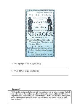 Slavery: DBQ with essay outline