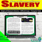 Slavery Differentiated Reading Passages