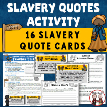 Slavery Quotation Cards Activity