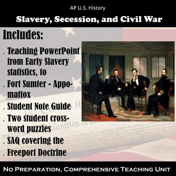 Slavery, Secession, and Civil War