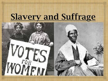 Slavery & Suffrage Powerpoint with interactive notes 4th G