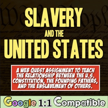 Slavery & the Constitution:  How was it ever allowed? Google 1:1 Compatible!