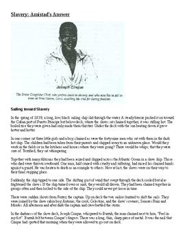 Slavery: The Story of Amistad