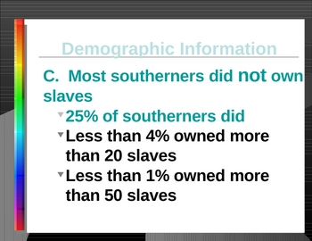 Slavery and Antebellum/Causes and Effects Powerpoint