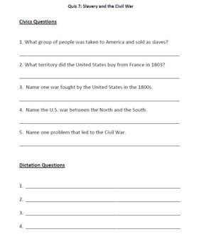 Slavery and Civil War (Lesson Plan, PowerPoint, Activity, and Quiz)